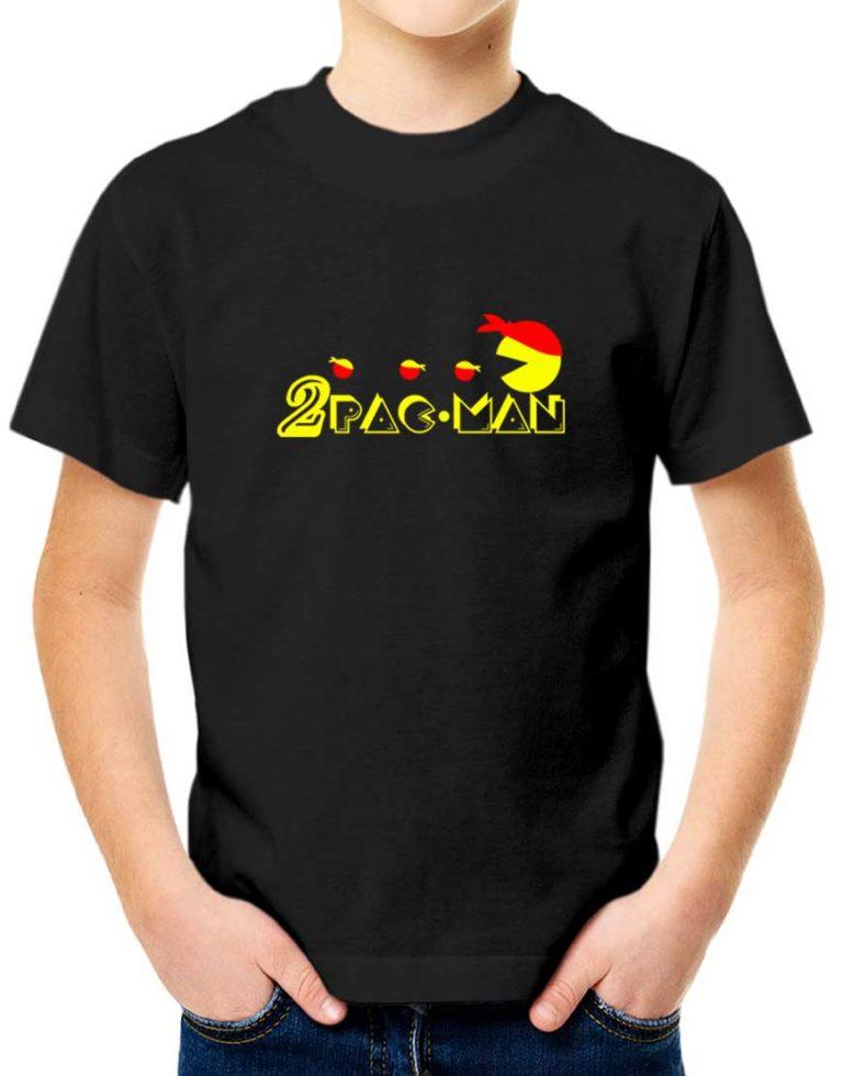 חולצה מצחיקה עם הדפסה של 2pac-man