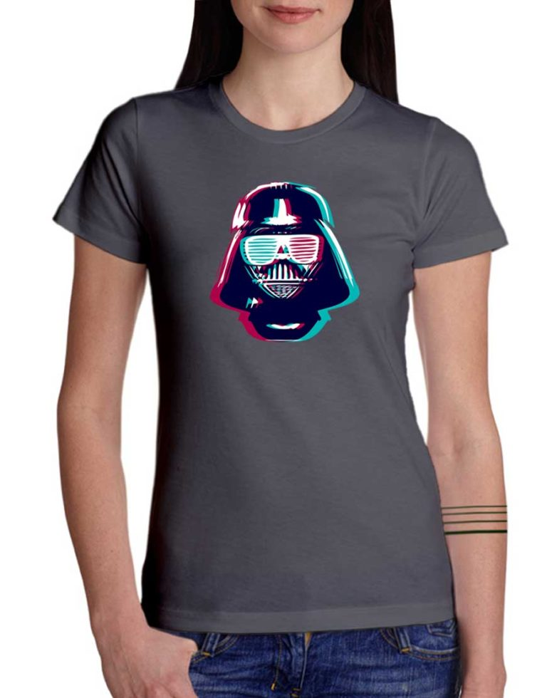 חולצה מגניבה עם הדפסה של 3Darth Vader