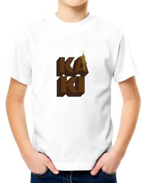 """חולצה מגעילה עם הדפסה """"KAKI"""""""