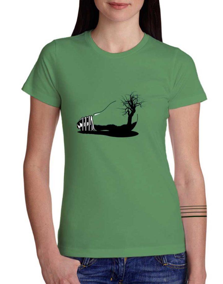 חולצת גרפיטי מנו-עץ