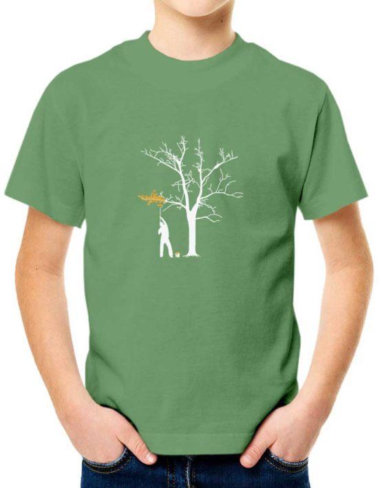 """חולצת גרפיטי """"איש צובע עץ"""" """