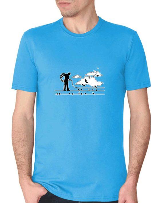 """חולצת גרפיטי """"האיש מחברת החשמל"""""""