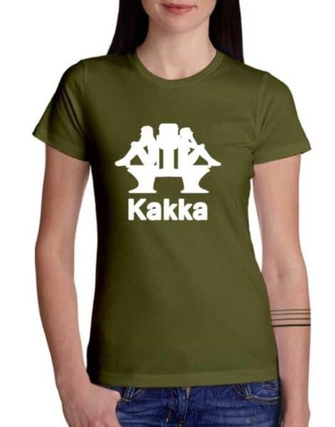 """חולצת משוגעת עם הדפס """"KAKKA"""""""