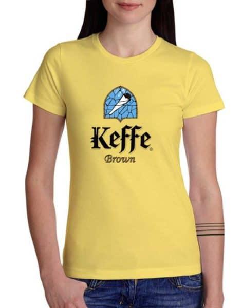 """חולצה מטורפת לסטלנים עם ההדפס """"KEFFE BROWN"""""""
