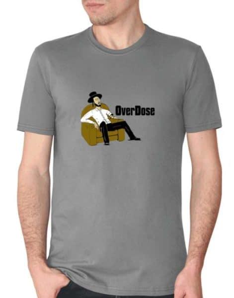"""חולצה מצחיקה עם ההדפסה """"OverDose"""""""