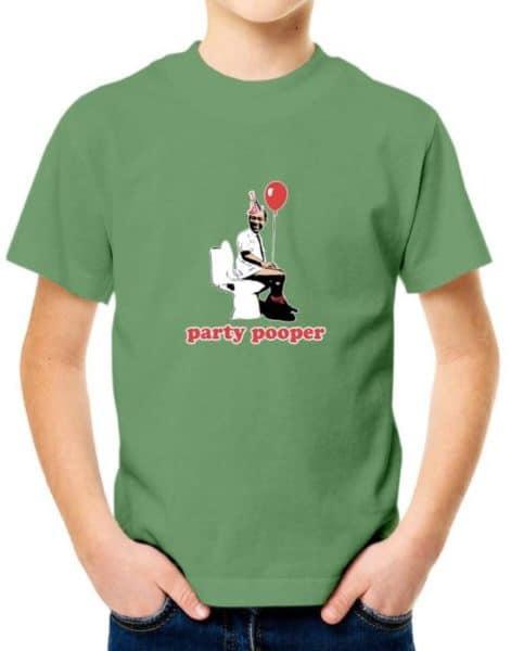 """חולצה למי שאוהב לבאס עם הדפס """"PARTY POOPER"""""""