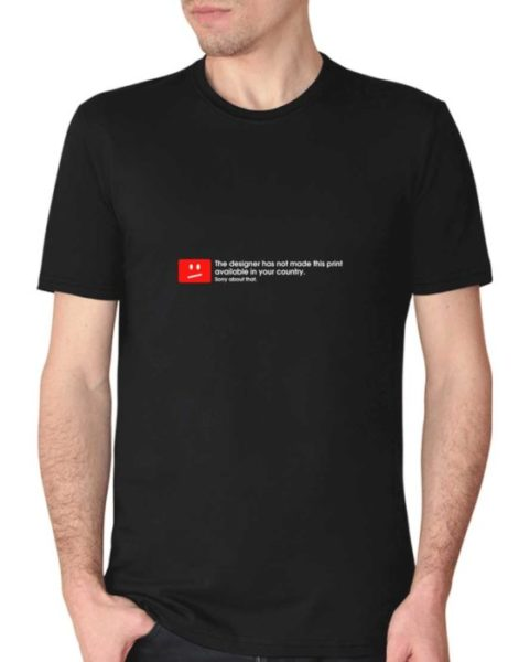 """חולצה עם ההדפס """"the designer has not made this print """""""