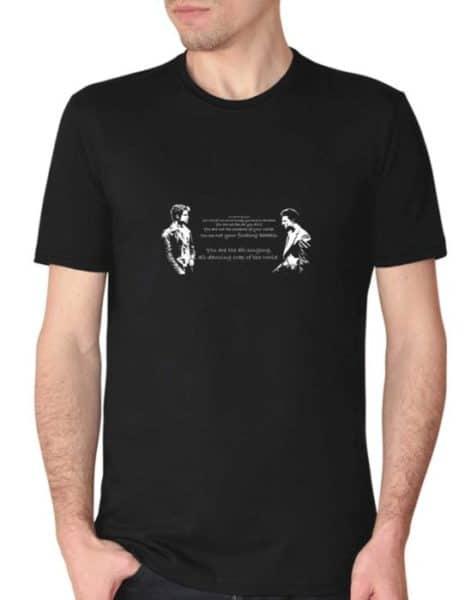 חולצה עם הדפסה של מועדון קרב