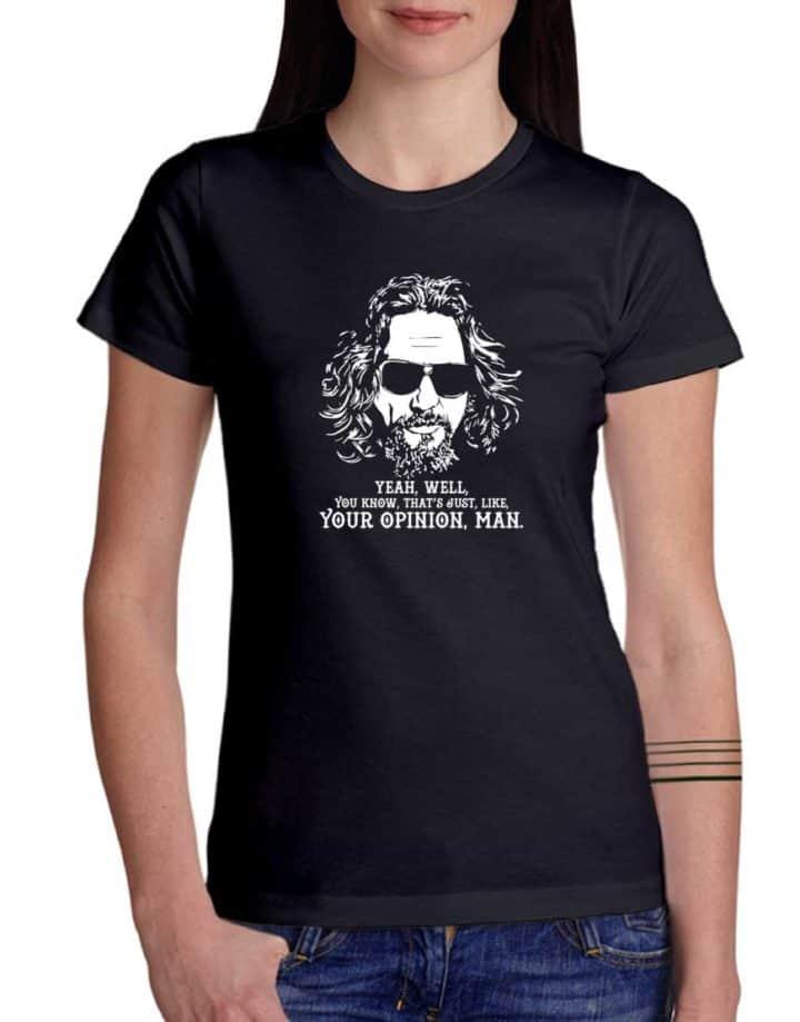חולצה מגניבנ עם העיצוב של ביג לבובסקי
